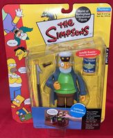 The Simpsons: Captain McCallister - World of Springfield Interactive Figure - Sealed On Card